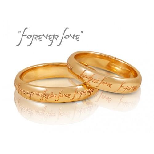 Обручальные кольца золотые с гравировкой